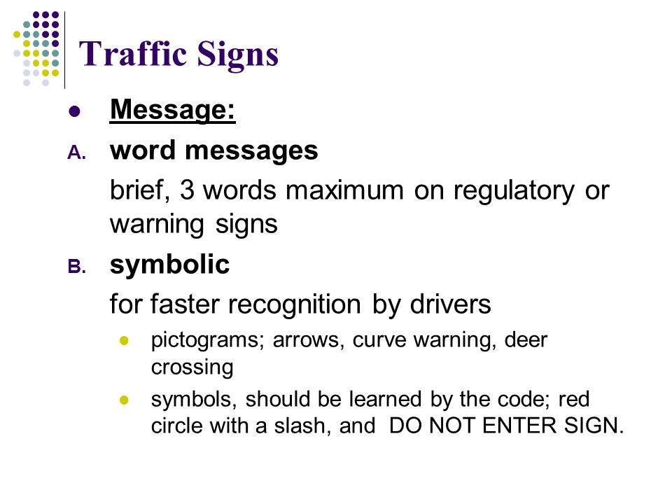 Traffic Signs Message: word messages
