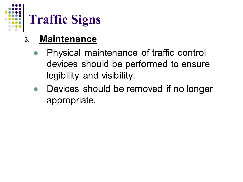 Traffic Signs Maintenance
