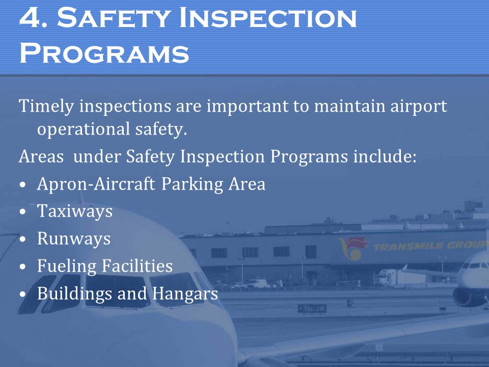 4. Safety Inspection Programs