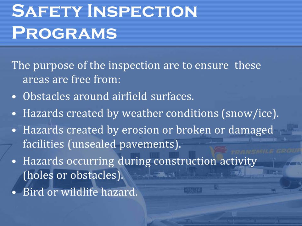 Safety Inspection Programs