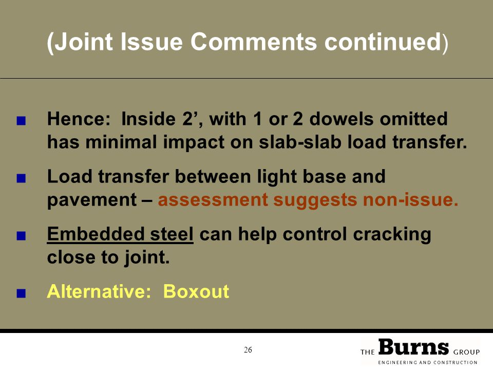 (Joint Issue Comments continued)