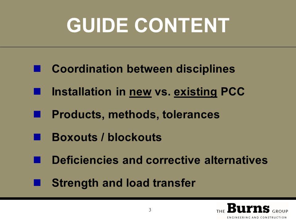 GUIDE CONTENT Coordination between disciplines