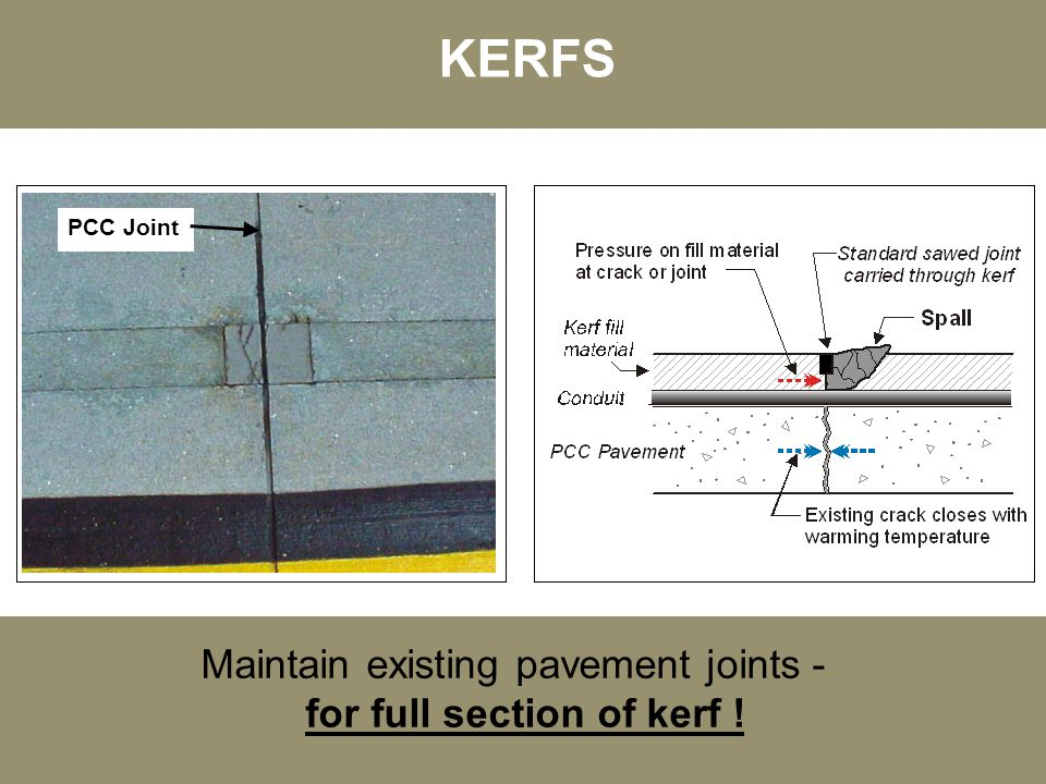for full section of kerf !