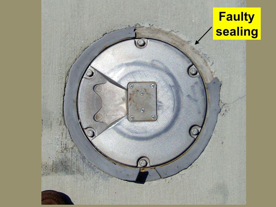 Faulty sealing