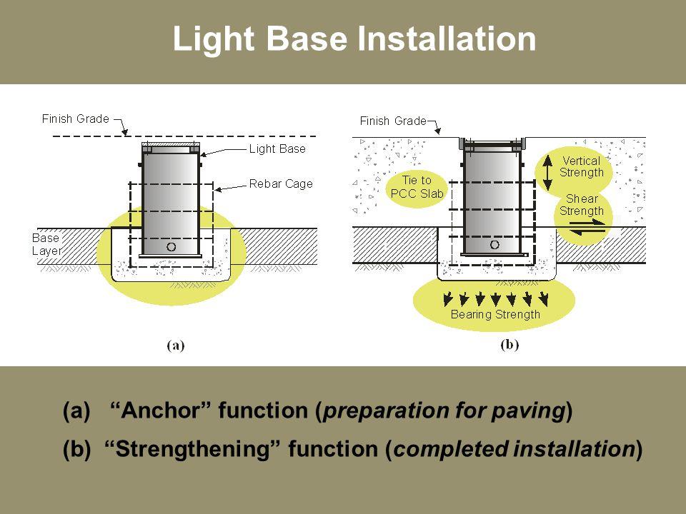 Light Base Installation