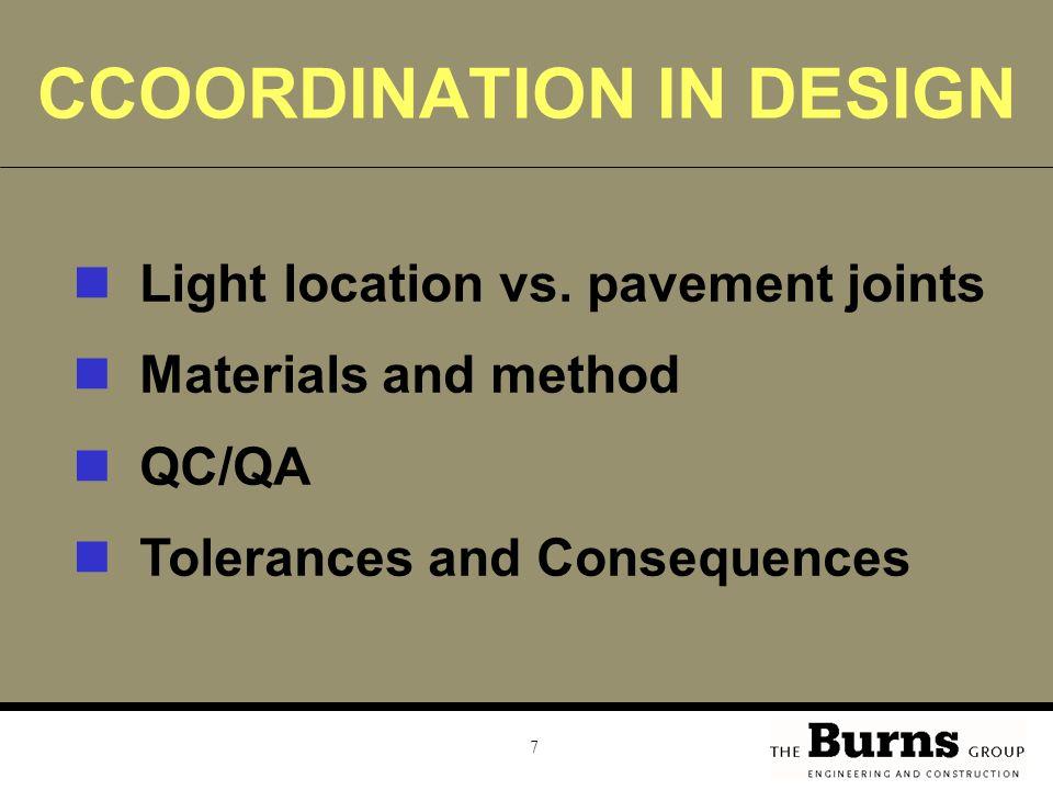 CCOORDINATION IN DESIGN