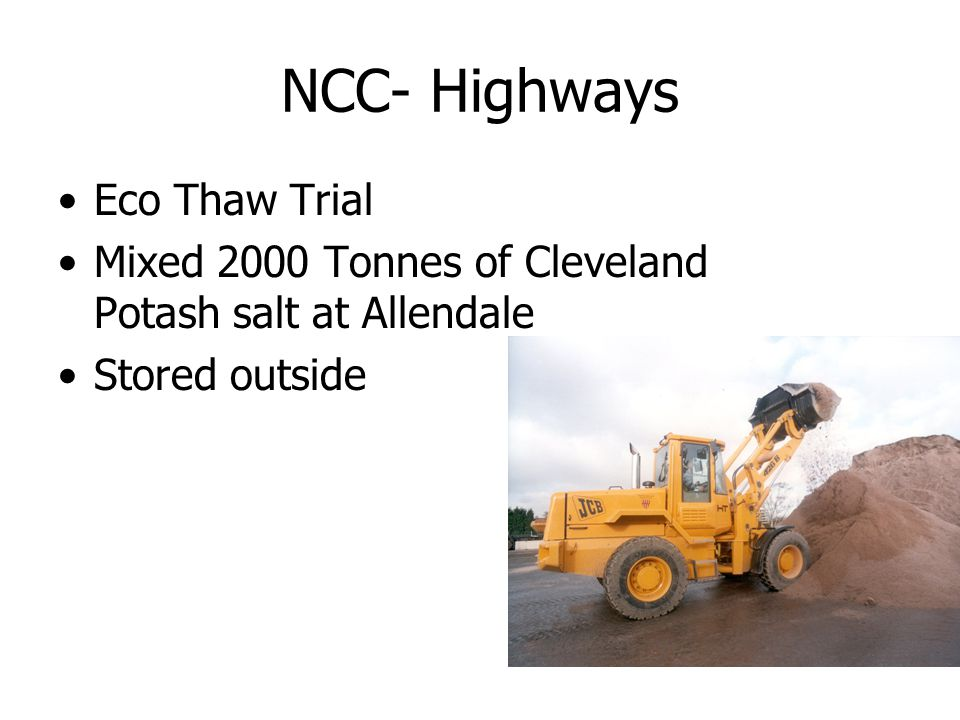 NCC- Highways Eco Thaw Trial