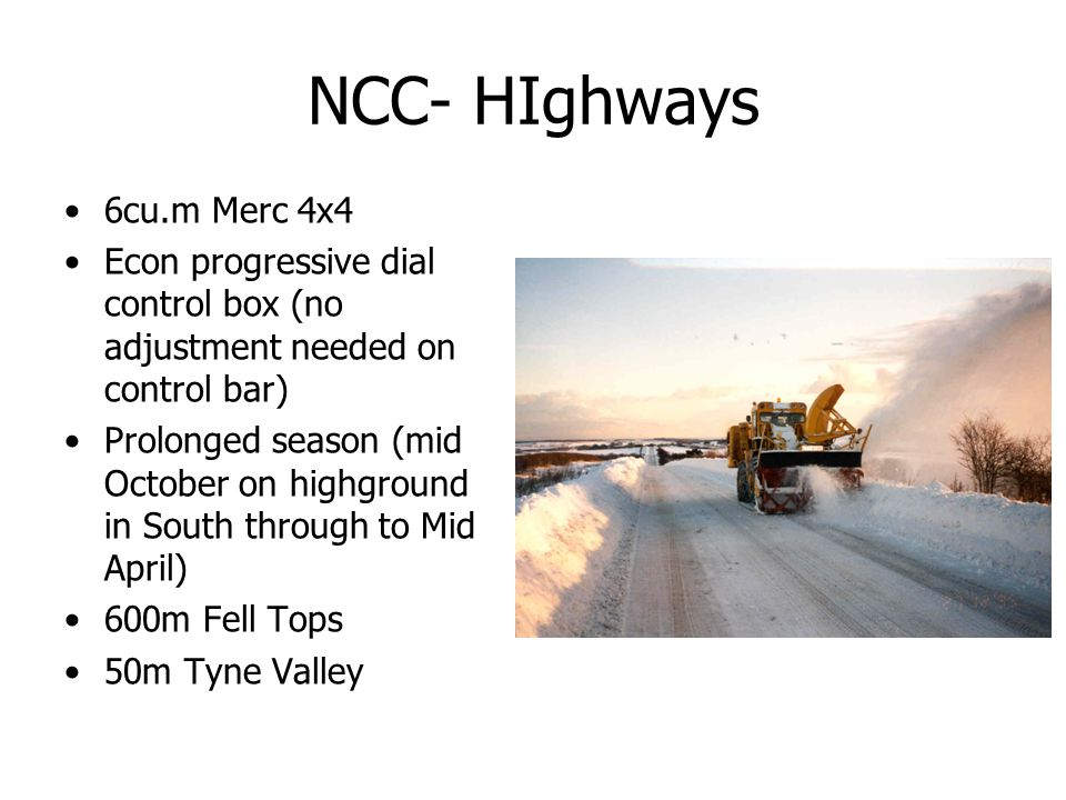 NCC- HIghways 6cu.m Merc 4x4