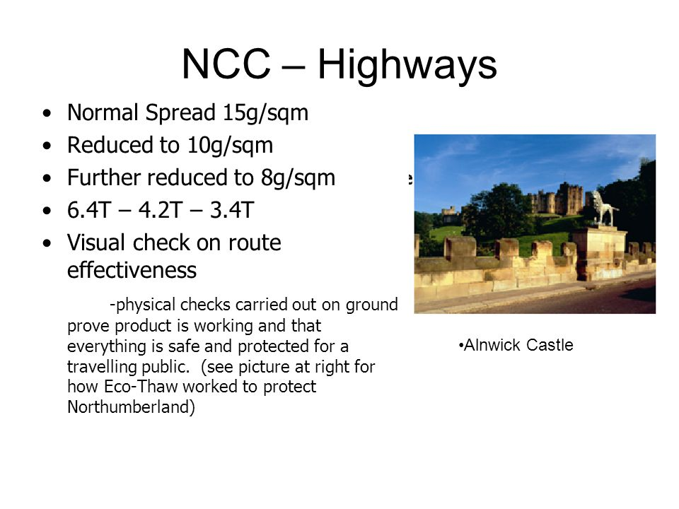 NCC – Highways Normal Spread 15g/sqm Reduced to 10g/sqm