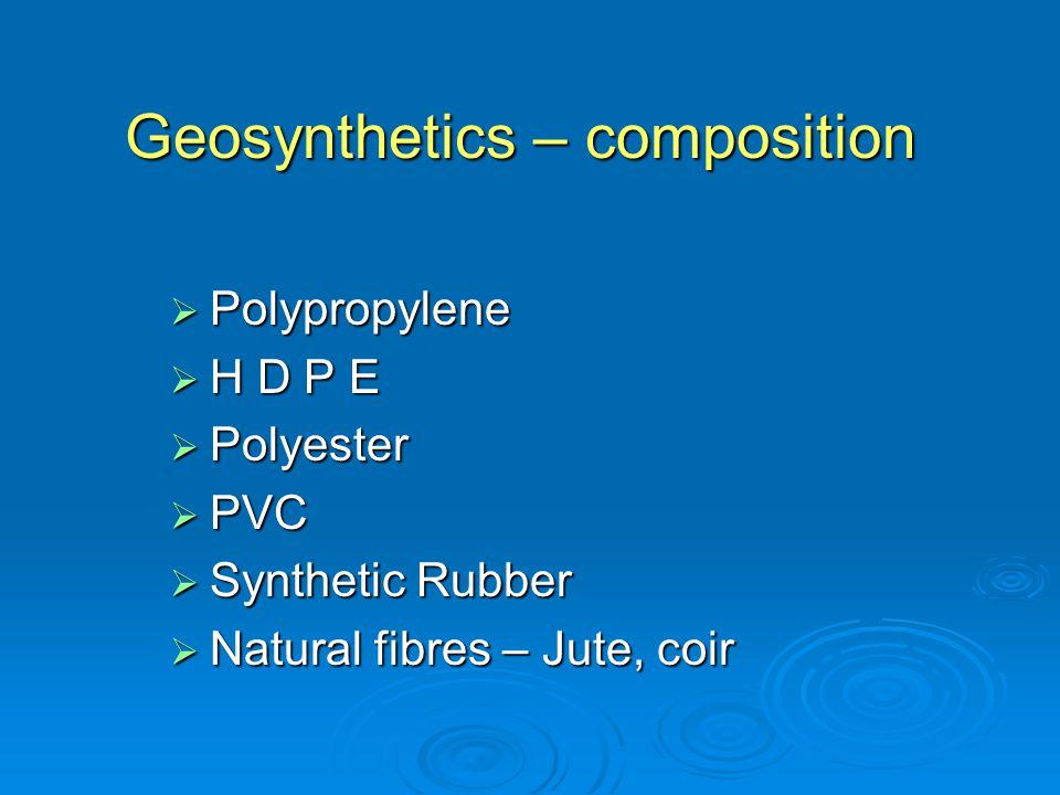 Geosynthetics – composition