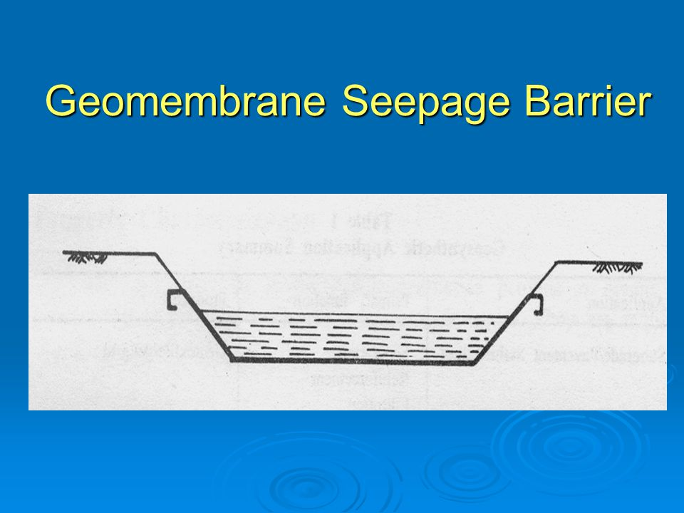 Geomembrane Seepage Barrier