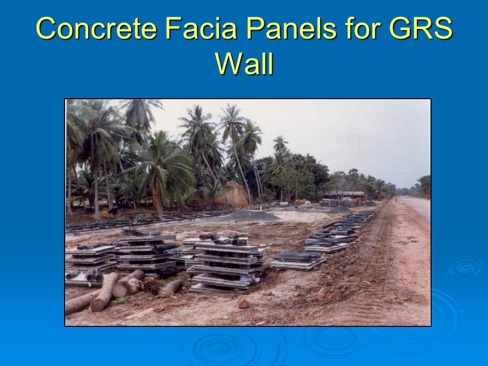 Concrete Facia Panels for GRS Wall