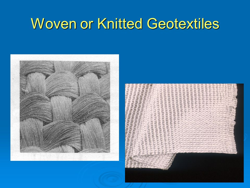 Woven or Knitted Geotextiles