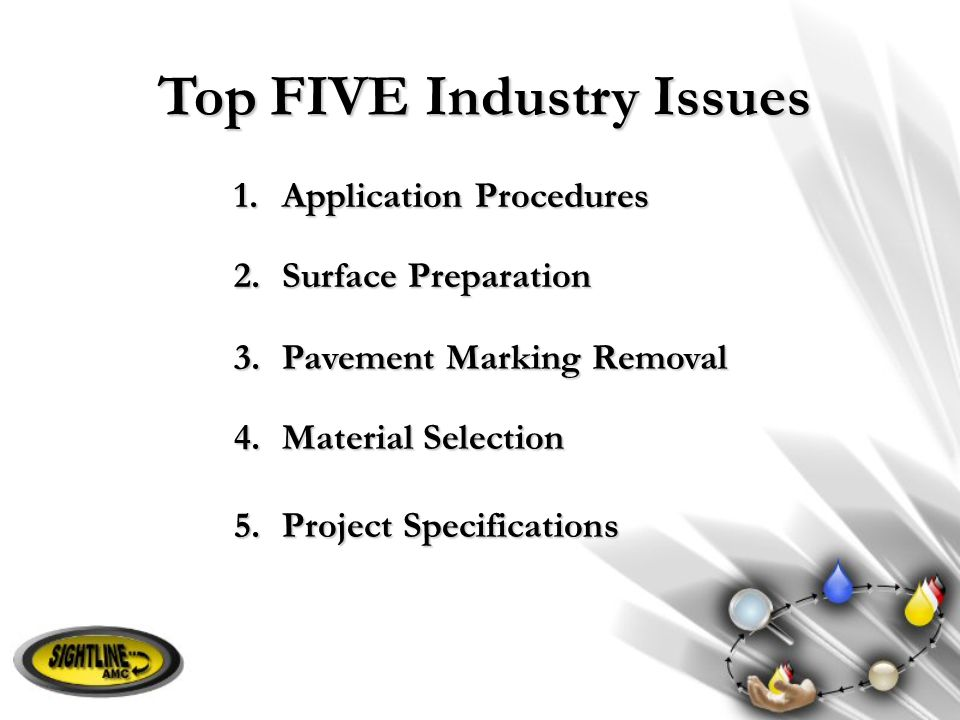 Top FIVE Industry Issues
