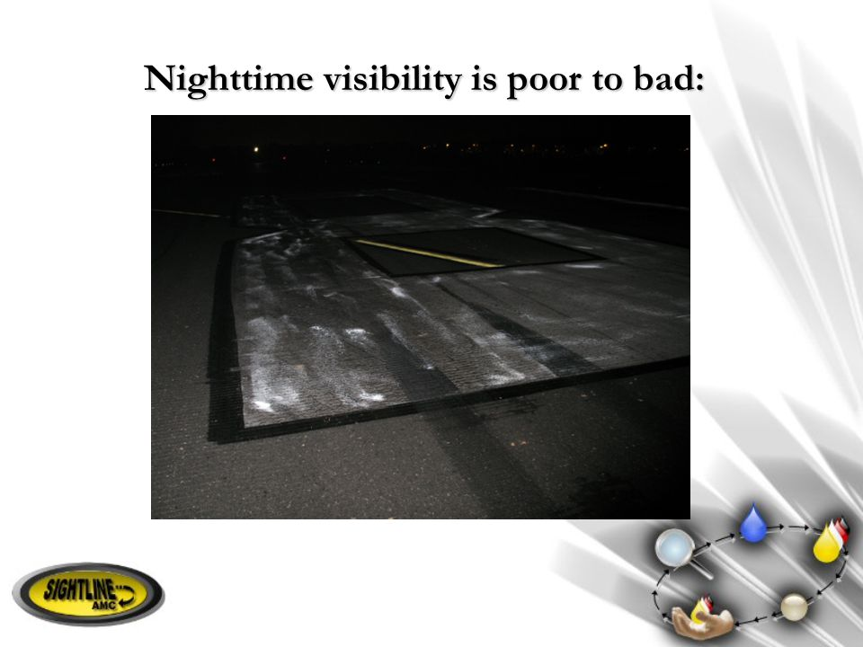 Nighttime visibility is poor to bad: