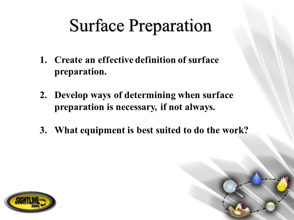 Surface Preparation Create an effective definition of surface preparation.