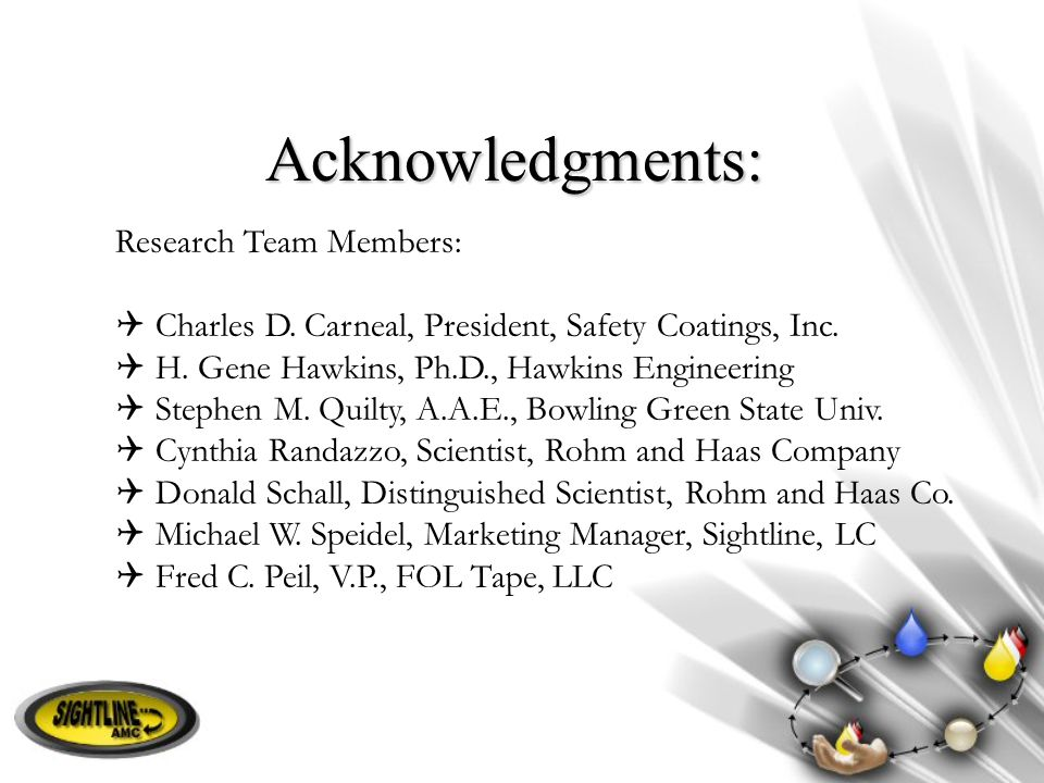 Acknowledgments: Research Team Members: