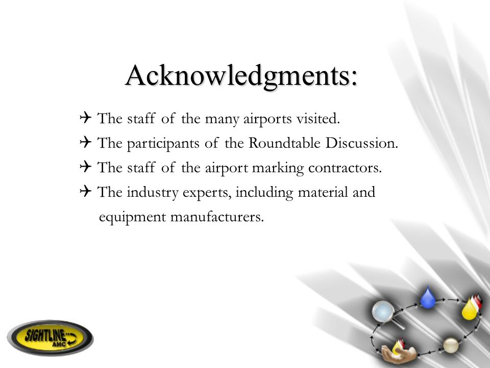 Acknowledgments: The staff of the many airports visited.
