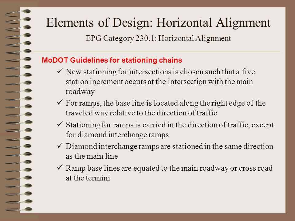 Elements Of Design Direction : Section elements of design horizontal alignment and