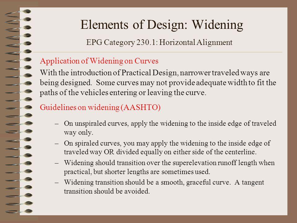 Elements of Design: Widening EPG Category 230.1: Horizontal Alignment