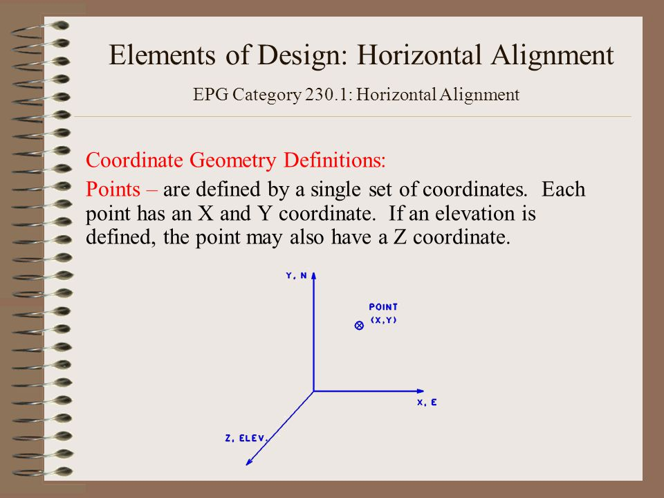 Elements of Design: Horizontal Alignment EPG Category 230