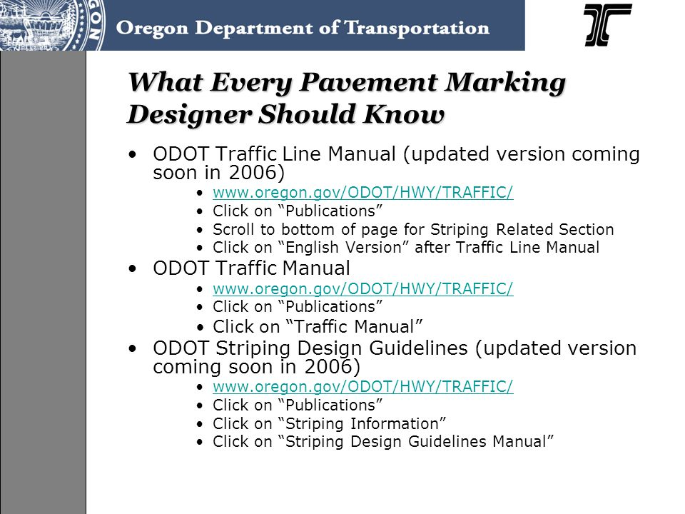 What Every Pavement Marking Designer Should Know