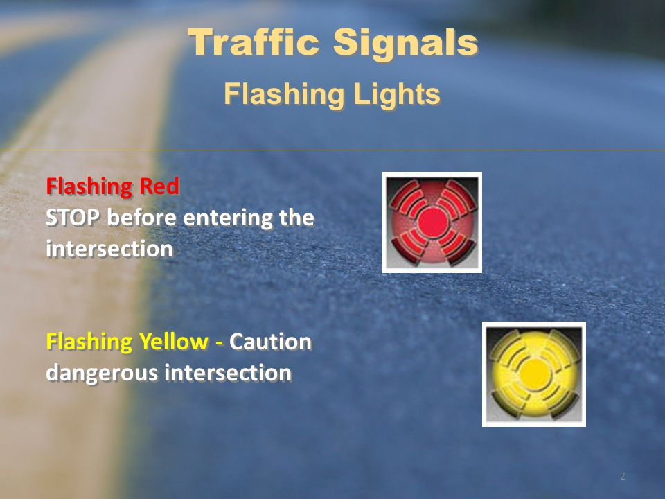 Traffic Signals Flashing Lights Flashing Red