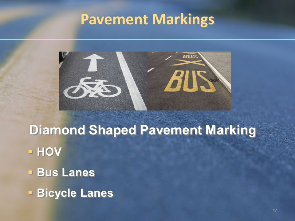 Diamond Shaped Pavement Marking