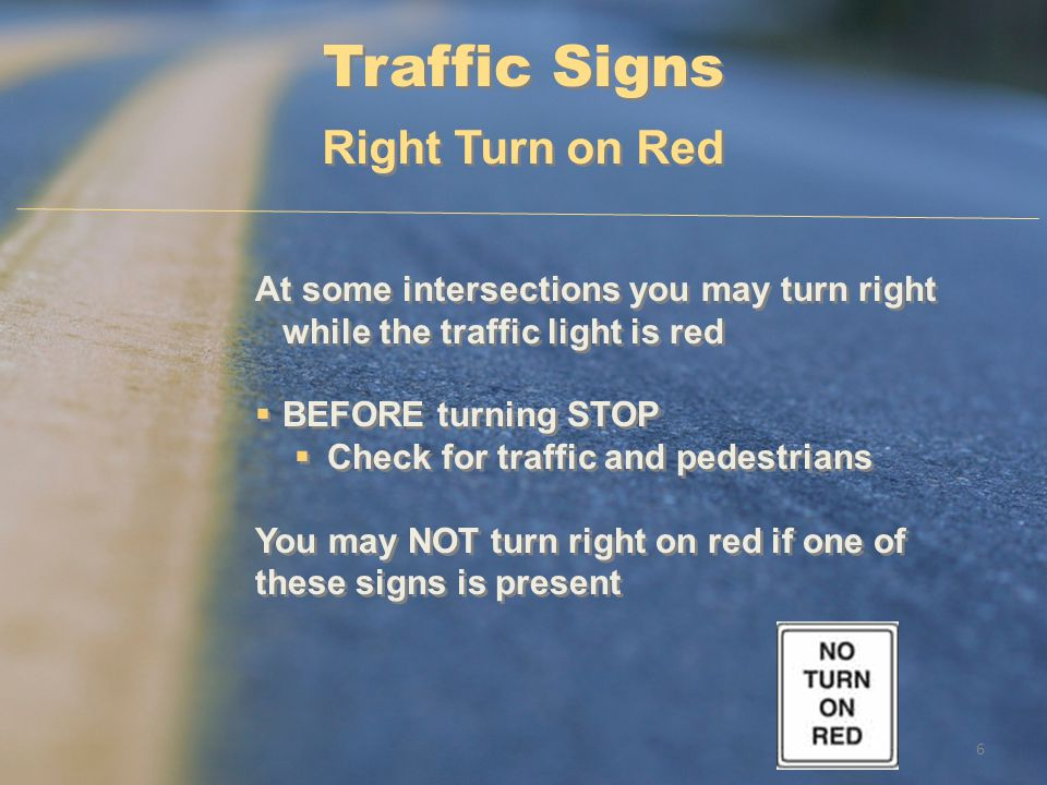 Traffic Signs Right Turn on Red