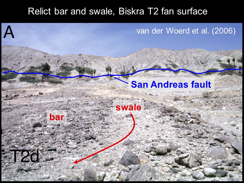 Relict bar and swale, Biskra T2 fan surface