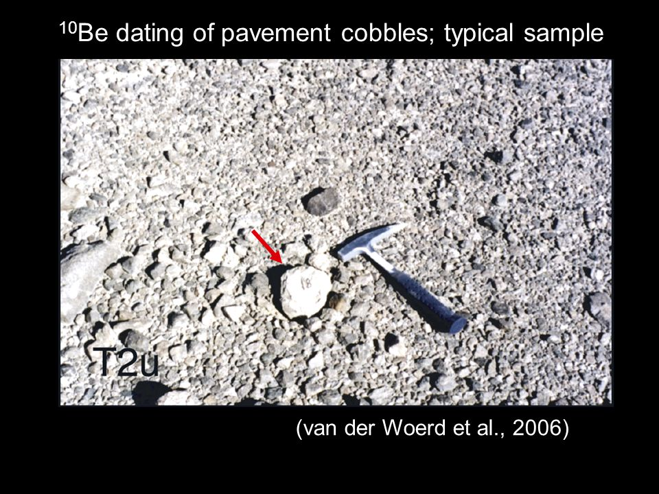 10Be dating of pavement cobbles; typical sample