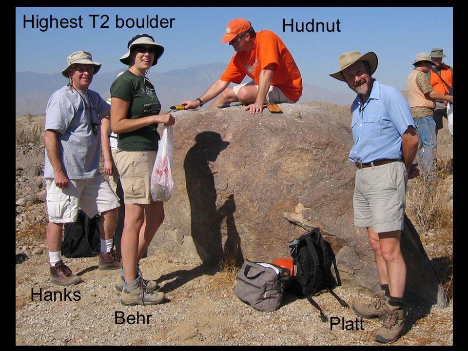 Highest T2 boulder Hudnut Hanks Behr Platt