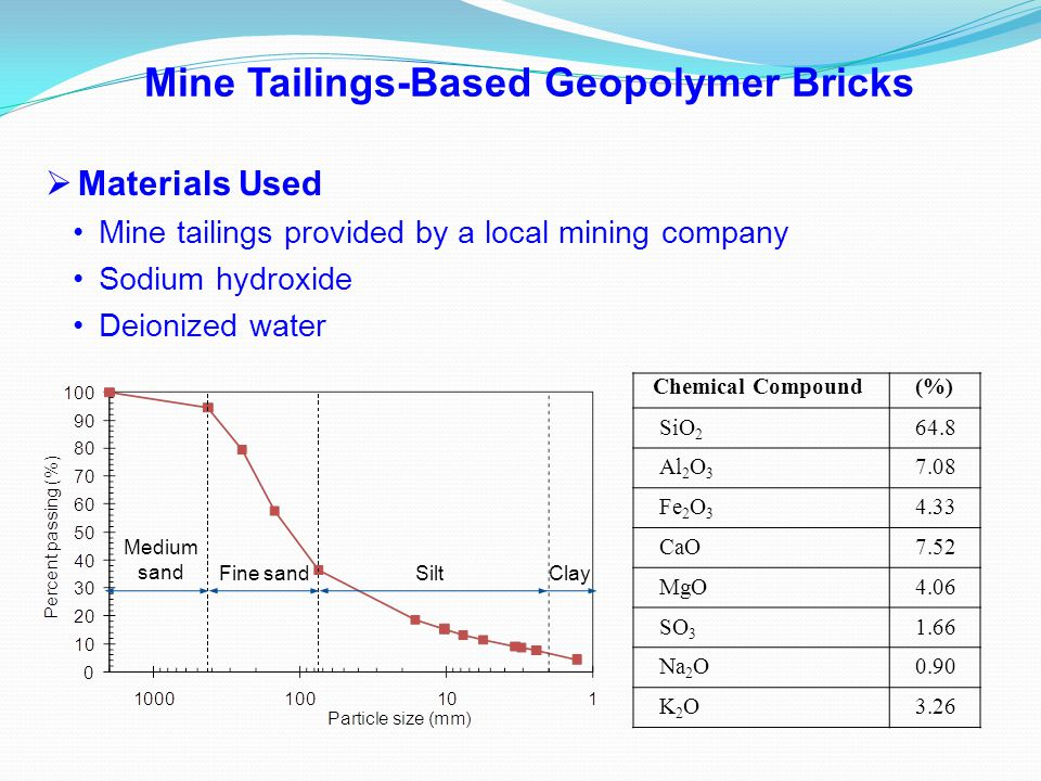 Mine Tailings-Based Geopolymer Bricks