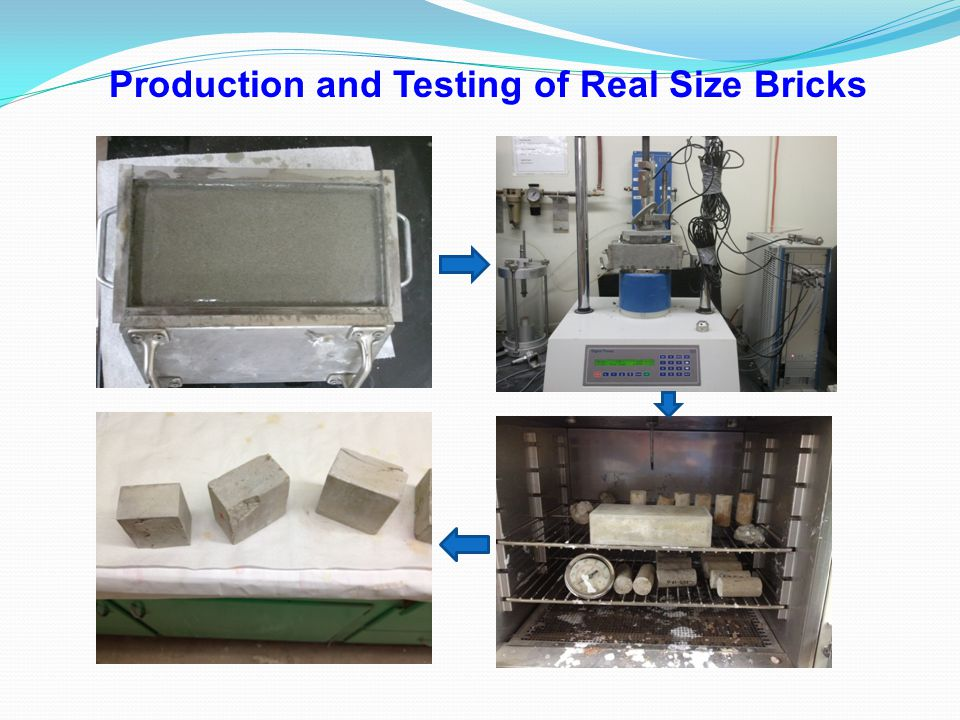 Production and Testing of Real Size Bricks