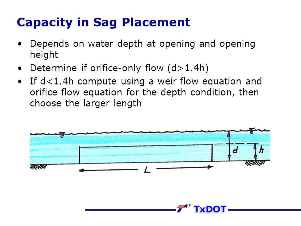 Capacity in Sag Placement