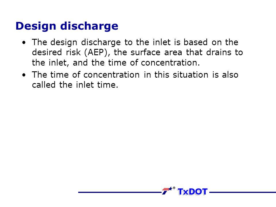 Design discharge