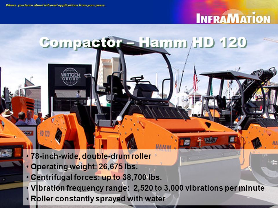 Compactor – Hamm HD 120 78-inch-wide, double-drum roller