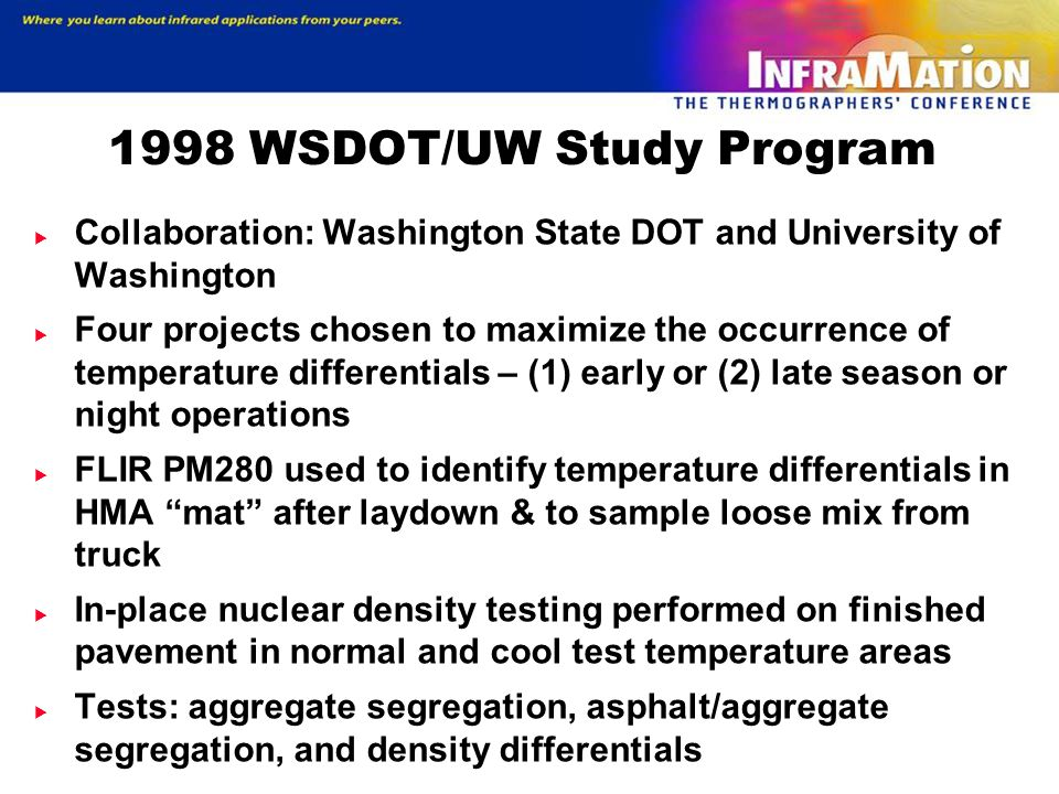 1998 WSDOT/UW Study Program