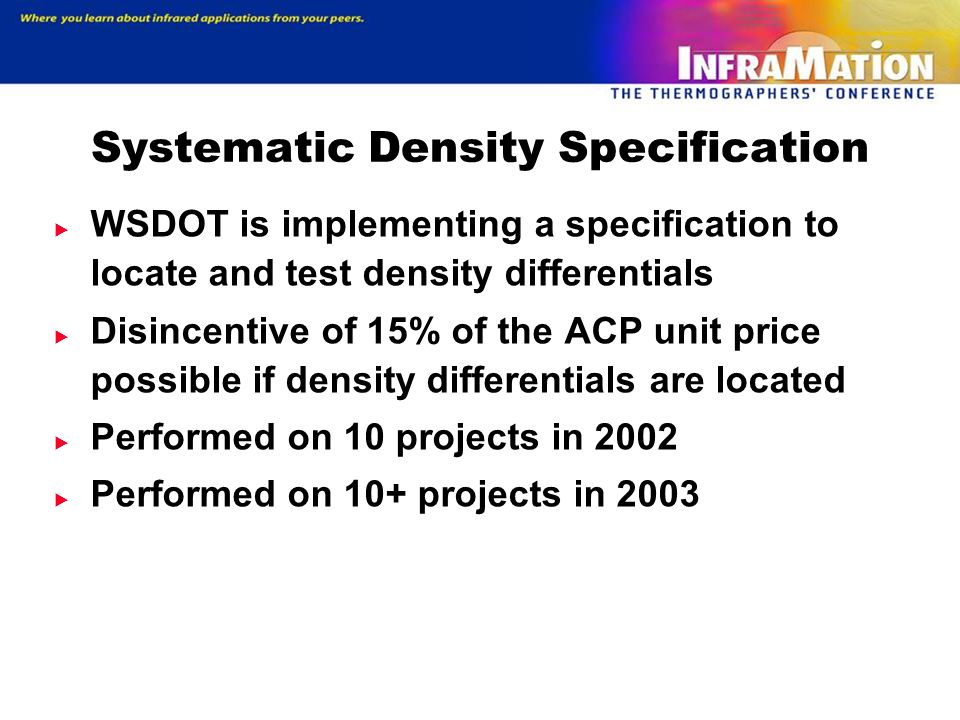 Systematic Density Specification