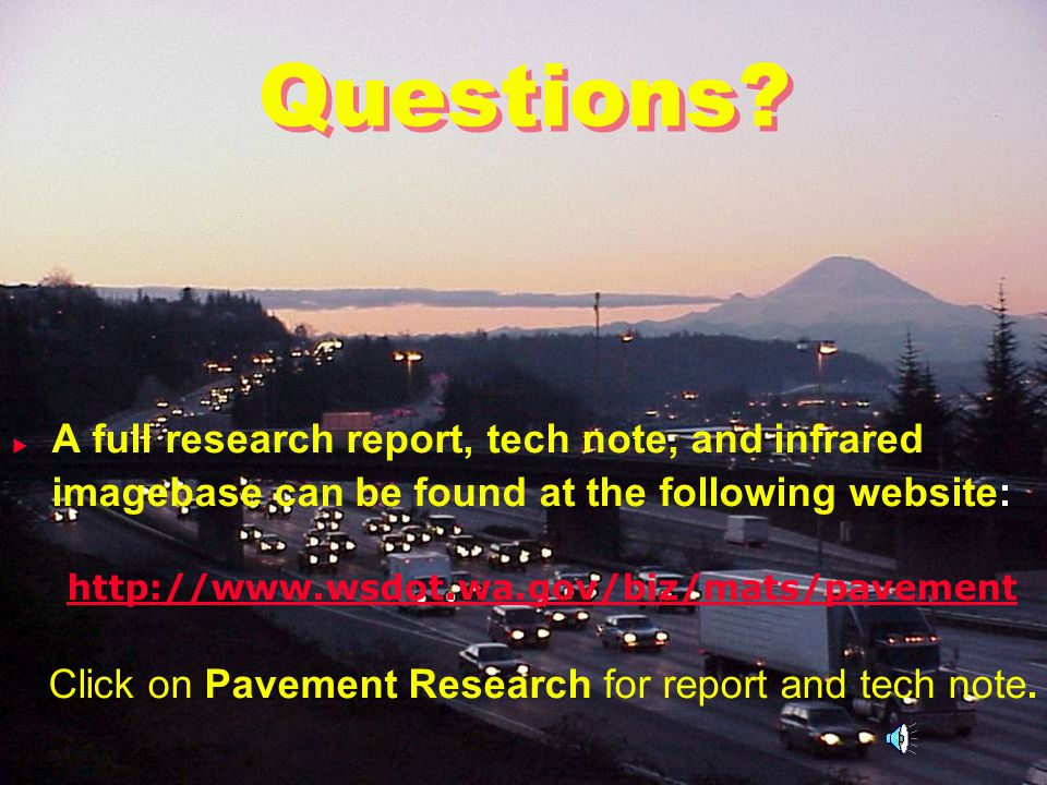 Click on Pavement Research for report and tech note.