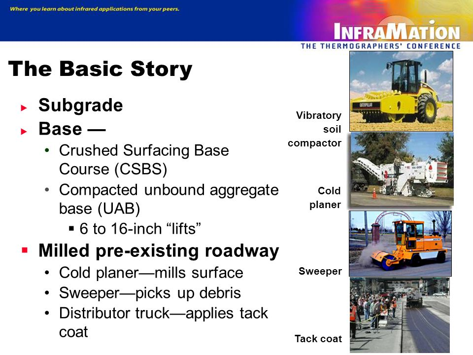 The Basic Story Subgrade Base — Milled pre-existing roadway