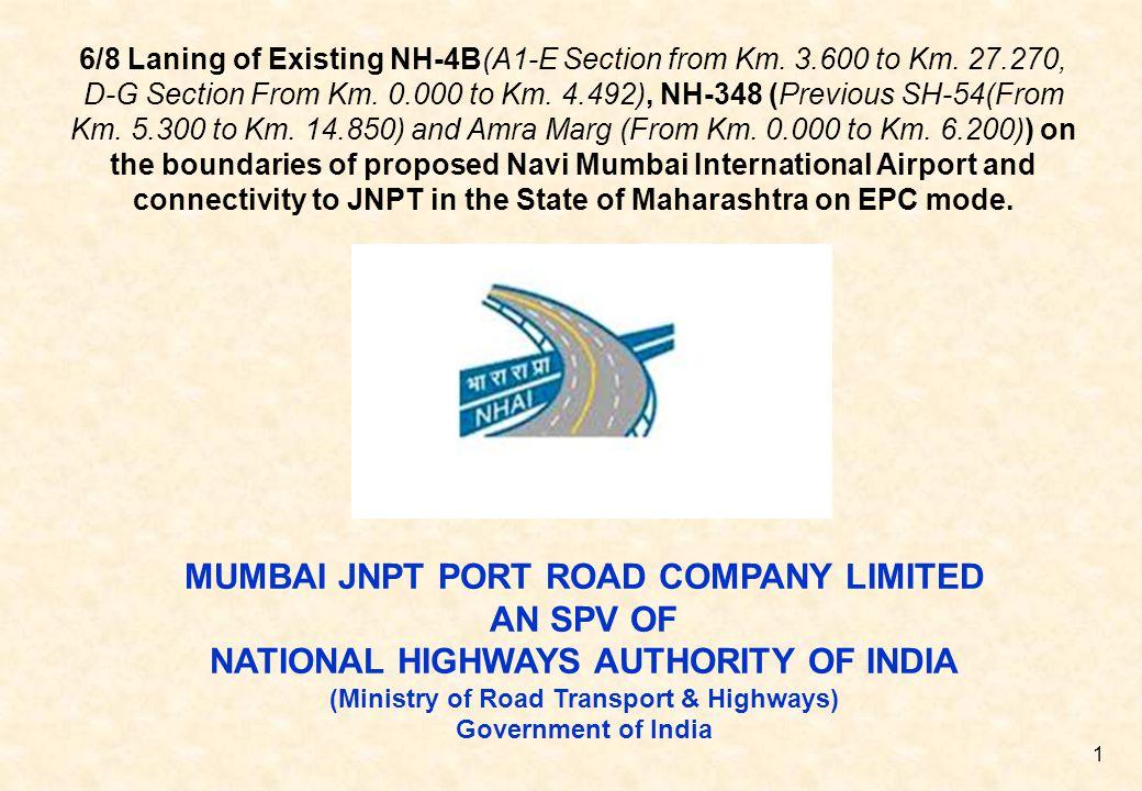 MUMBAI JNPT PORT ROAD COMPANY LIMITED AN SPV OF
