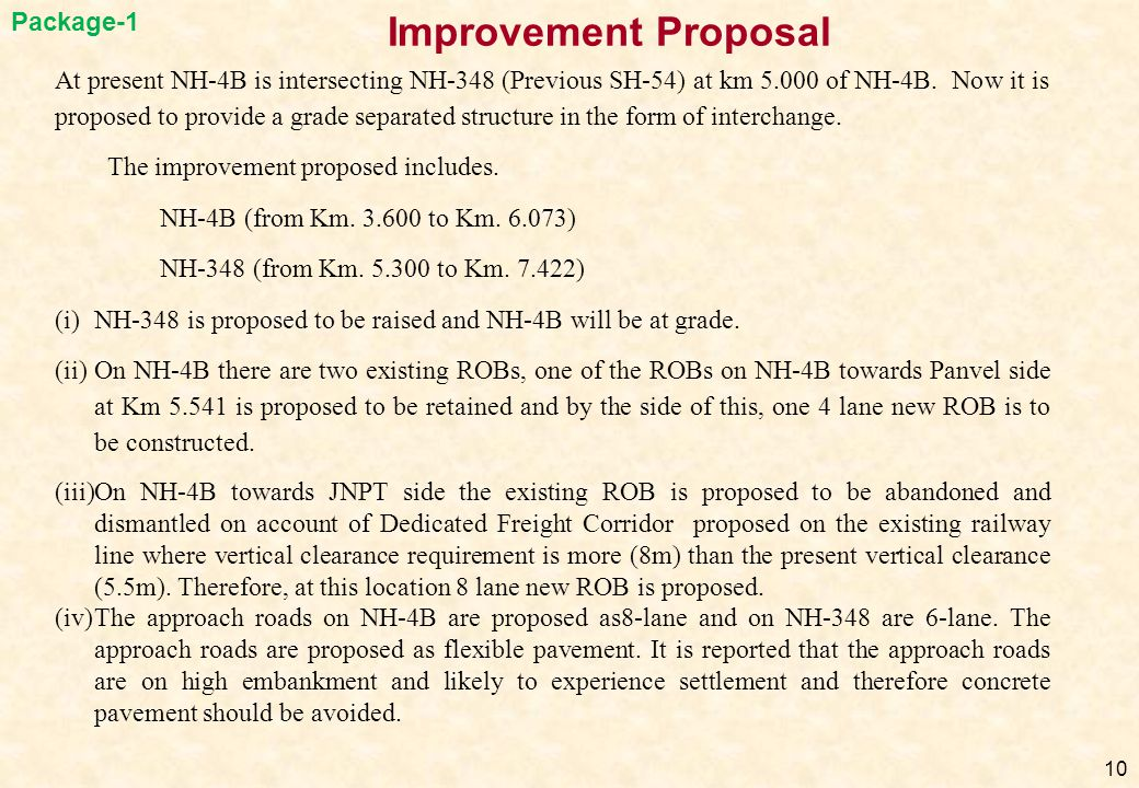 Improvement Proposal Package-1