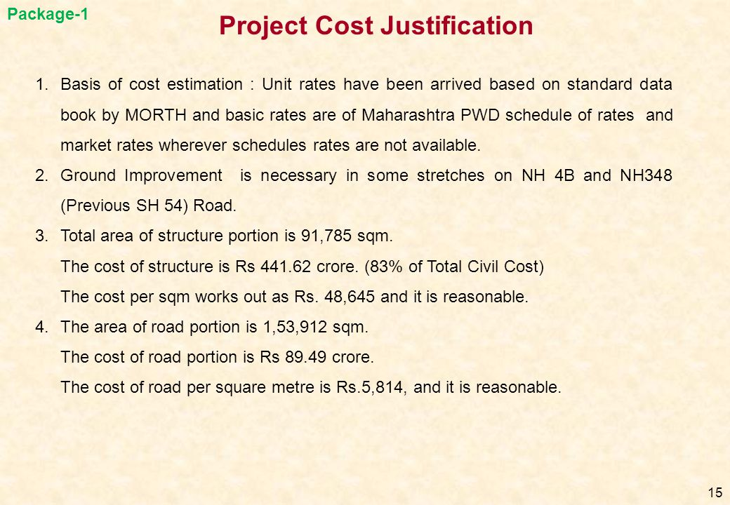 Project Cost Justification