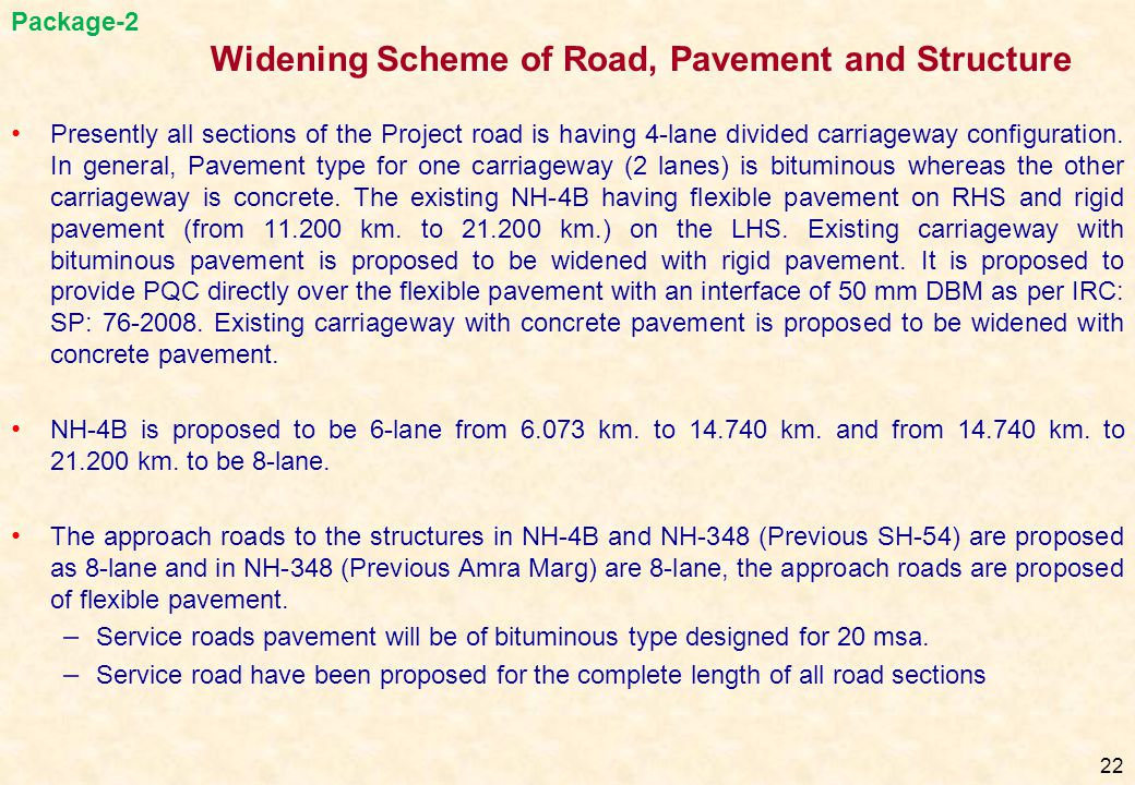 Widening Scheme of Road, Pavement and Structure