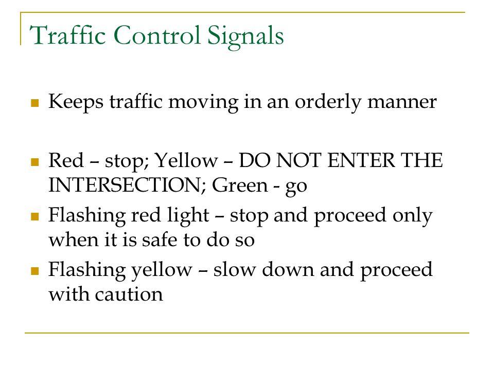 Traffic Control Signals