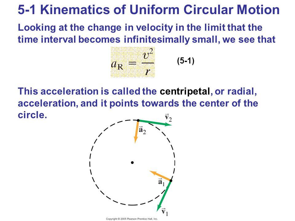 5-1 Kinematics of Uniform Circular Motion
