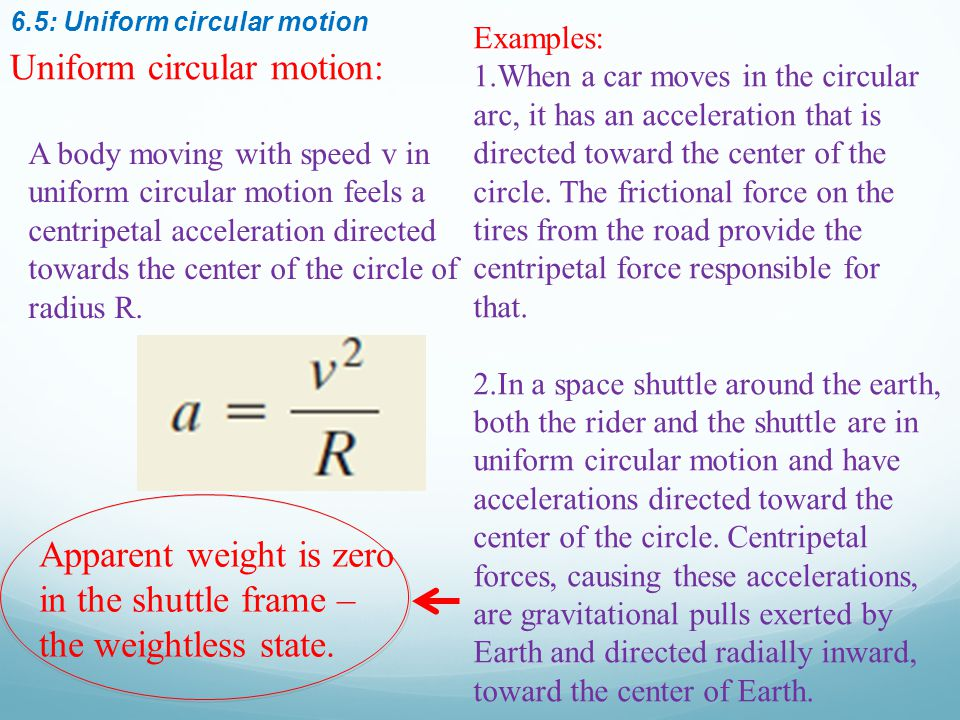 Uniform circular motion: