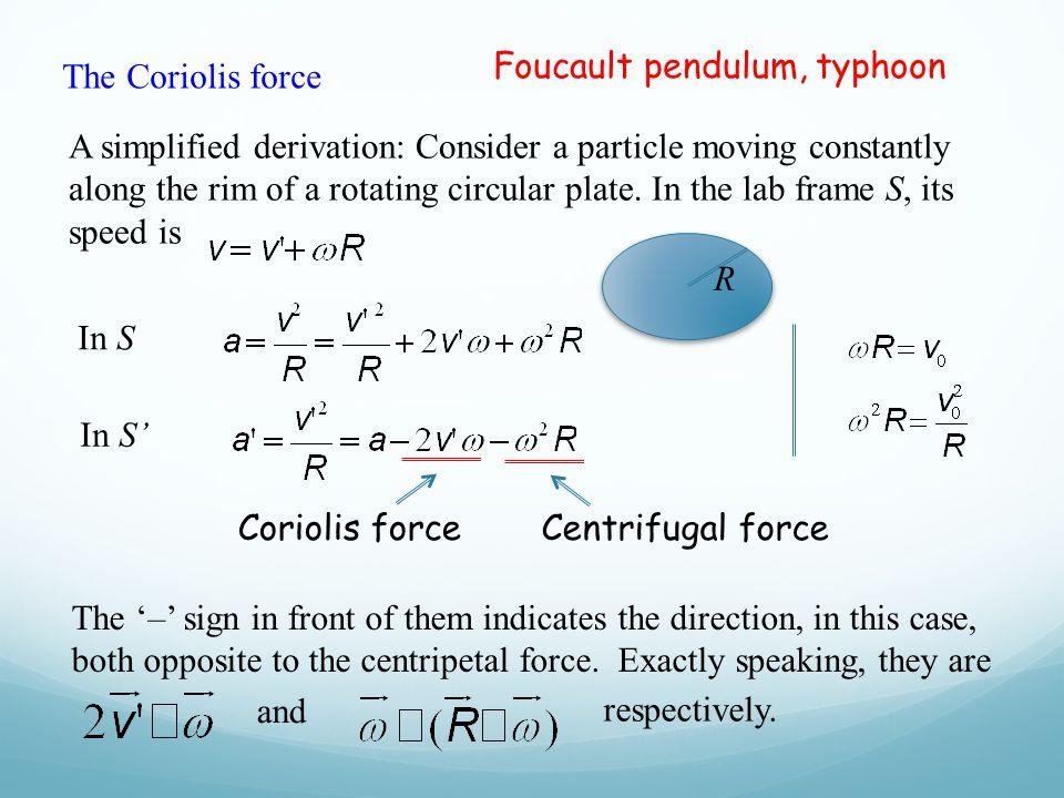Foucault pendulum, typhoon