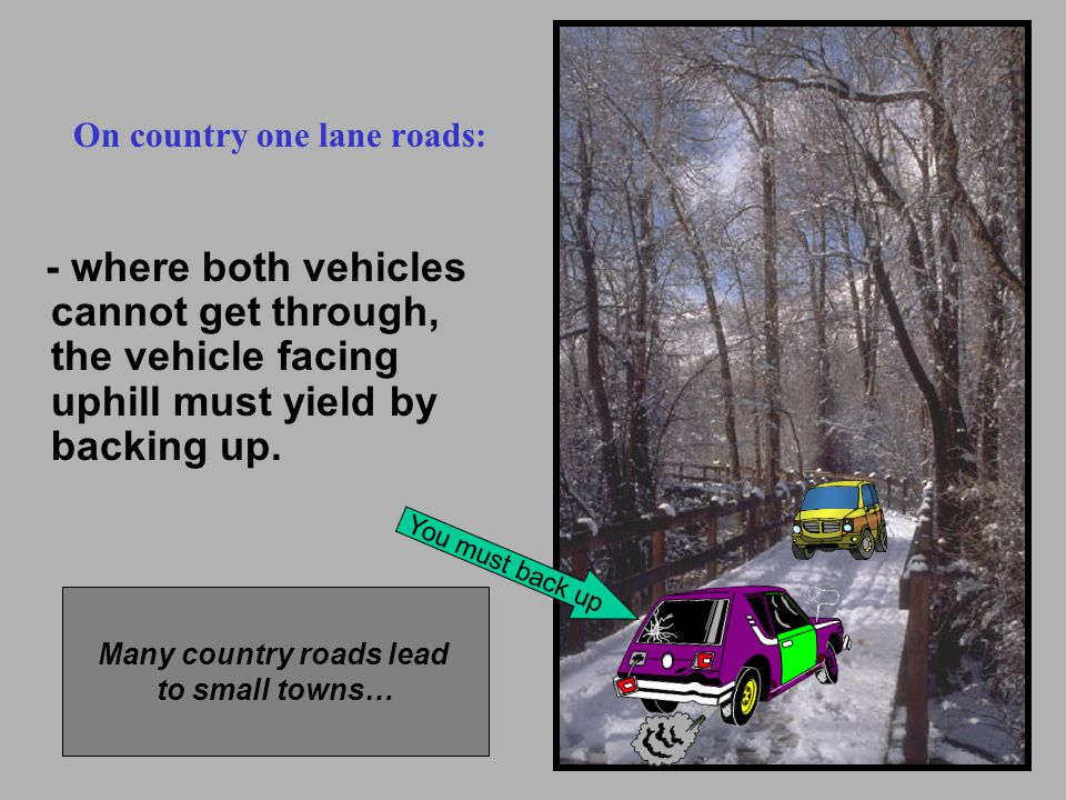 Many country roads lead